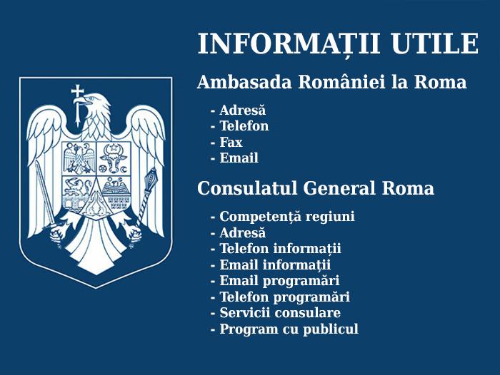 Ambasada și Consulatul României la Roma