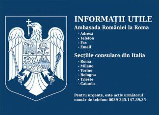 Consulatele României pe teritoriul Italiei.