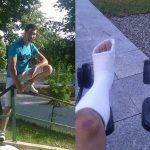Cu picioarele rupte și abandonat în spital. Un alt român, victimă a muncii la negru!