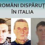 Români dispăruți în Italia – trei cazuri prezentate în luna noiembrie.