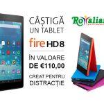 """Participă la concursul """"Ce-ți doresc eu ție, dulce Românie"""" și ai șansa de a câștiga un tablet Fire HD 8 de la Amazon!"""