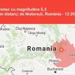 România – cutremur în noaptea de luni spre marți, cu magnitudine de 5,3 grade pe scara Richter, epicentrul în Vrancea.