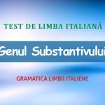 Test de limba italiană: genul substantivului.