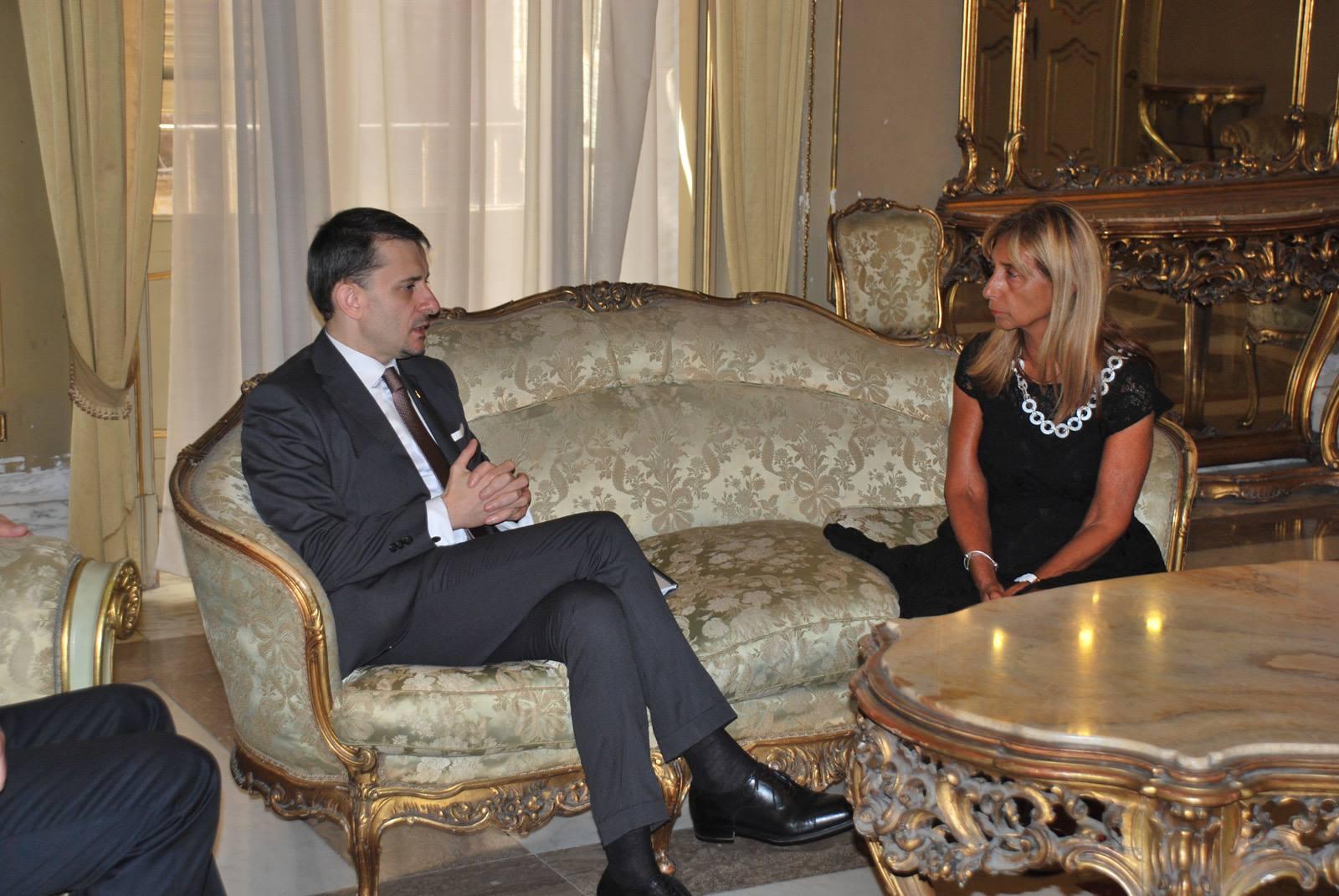 Întâlnirea ambasadorului George Bologan cu prefectul de Catania, Silvana Riccio