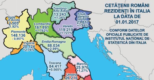 Harta Comunităţii Romanesti Din Italia Prezența Cetățenilor