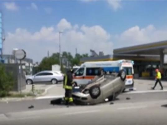 Automobilul Fiat Punto implicat în accident. Sursa foto: www.larena.it